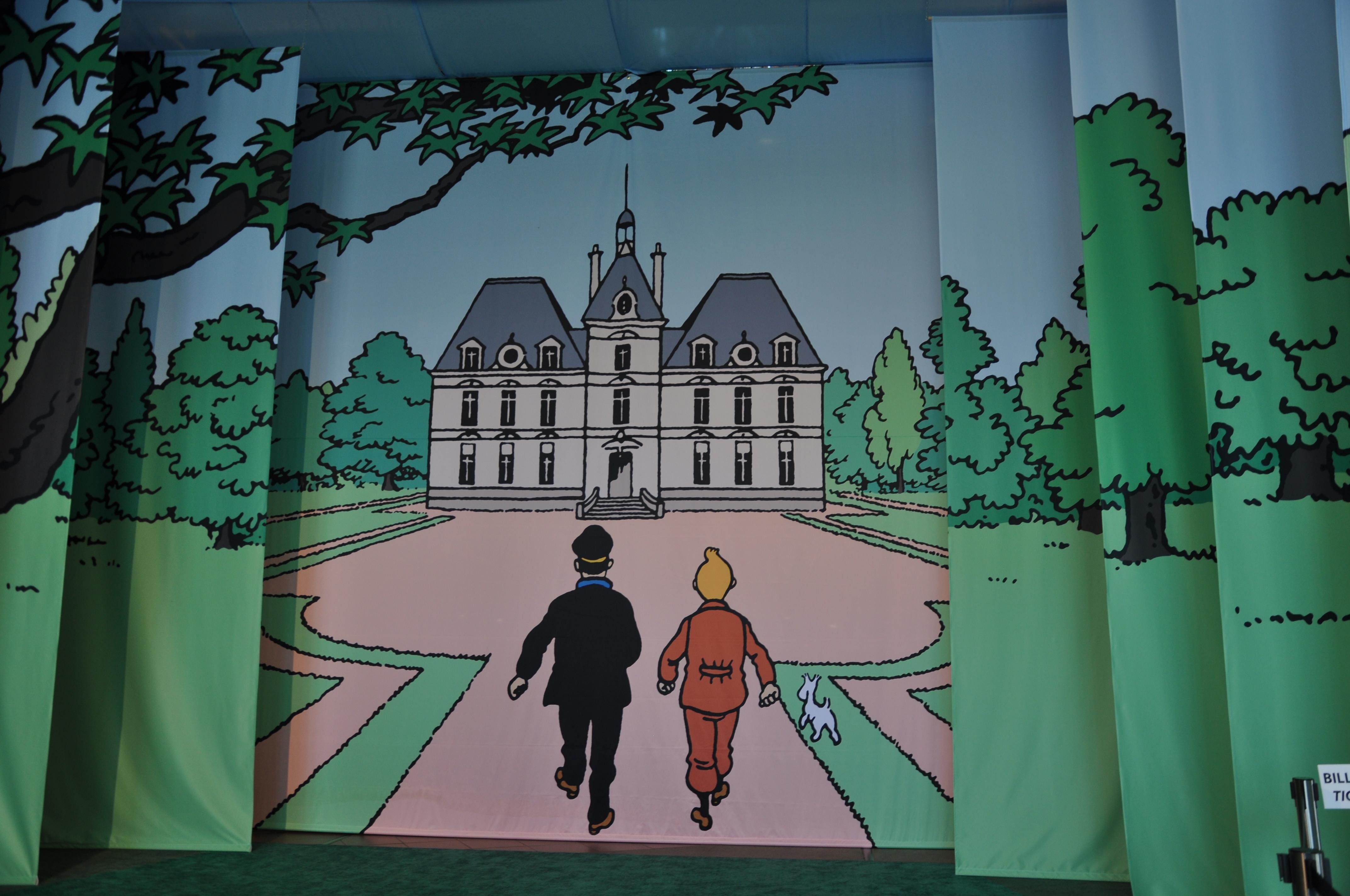 Exposition temporaire sur Tintin.