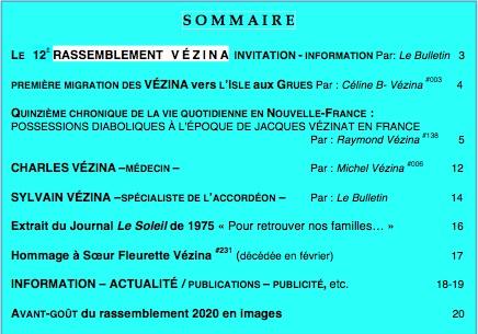 Sommaire Bulletin 25