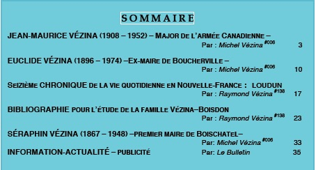 Sommaire HERITAGE 27