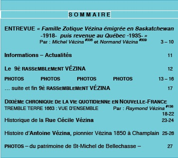 Sommaire L HERITAGE 20