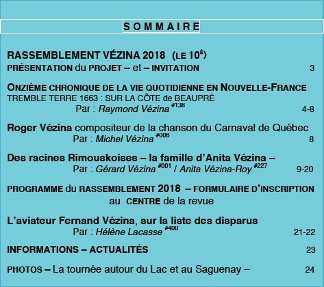Sommaire L'HERITAGE 21