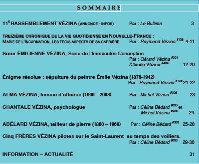 Sommaire L'HERITAGE 23