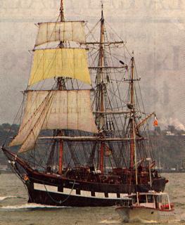 Voilier Jeanie Johnston (2), replique de l'original  1847; photo Le Soleil 26-09-03