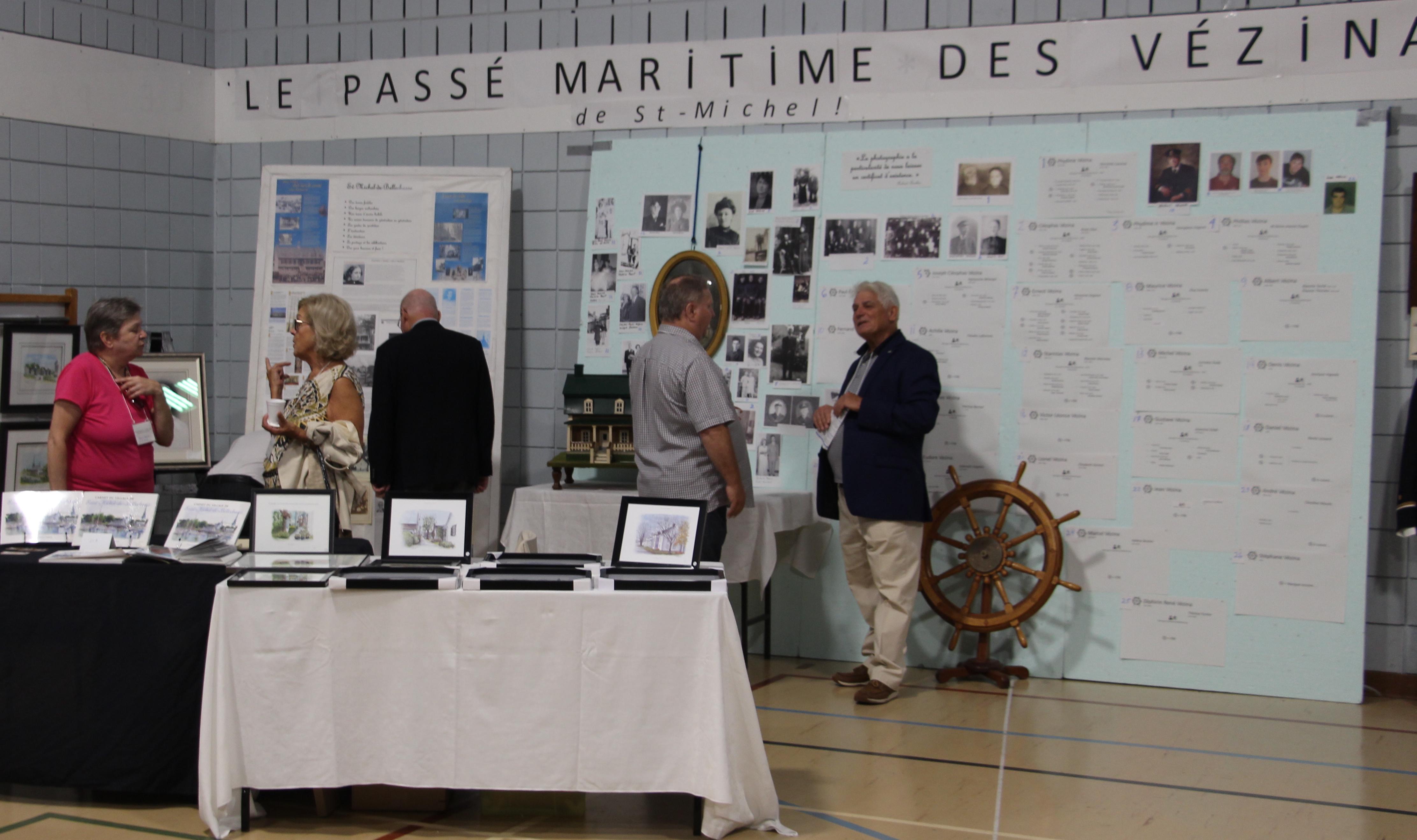 kiosque du passé maritime de Saint-Michel