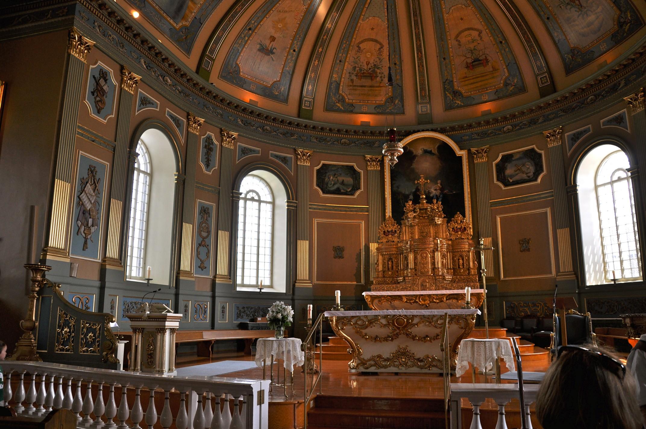 intérieur église Ste-Famille de Boucherville