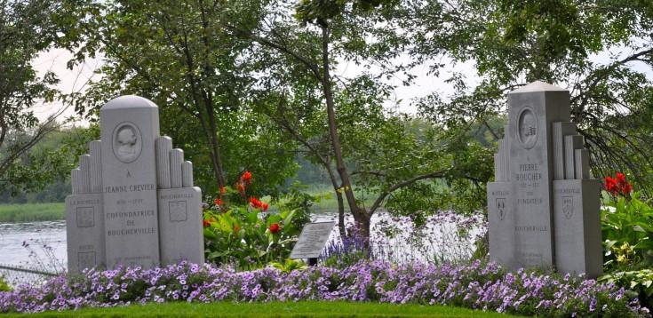 monuments aux fondateurs de Boucherville